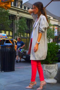 skinny red pants