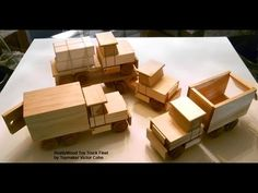 Wood Toy Plans - Table Saw - Four Easy To Make Trucks - YouTube