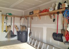 """Garage Storage on a Budget • Ideas and tutorials, including """"how to make garage shelving from reclaimed wood"""" by 'Don't Worry, Be Happy, Keep Learning'!"""