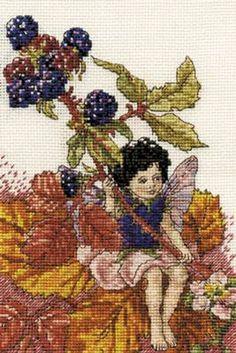 Blackberry Fairy Cross Stitch