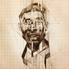 decades of progression and regression. Geometric Face, Urban Sketchers, Cubism, Life Drawing, Abstract Paintings, Natural World, Art School, Face And Body, Collages