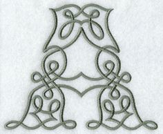 """Celtic Knotwork Letter """"A"""" - for me! :)"""