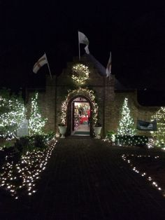 From WinterLights at the Elizabethan Gardens on Roanoke Island.