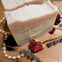French Lavender Jasmine and Shea Butter Soap  Jasmine is a component of most of the world's fine perfumes for a good reason added clay to absorb dirt oil and toxins.