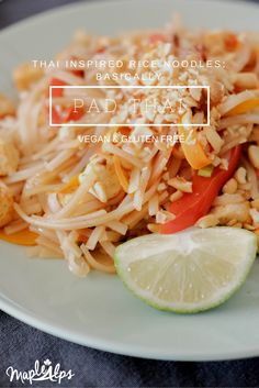 The easiest rice noodles ever! Tastes like pad thai, but without the fish sauce! Delicious!