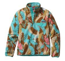 Patagonia Synchilla Snap T Pullover Feather Dance Bear Brown Womens Sz S NWT /