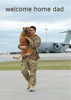 This is too adorable! Welcome home to all the troops! Thank you for you service!