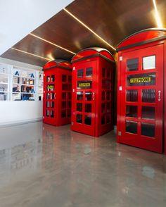 Phone booths - Mediacom's Sydney office