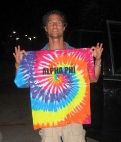 Mathew loves Alpha Phi! Such a cute fraternity boy!