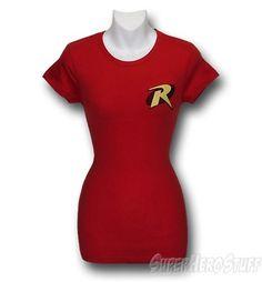 Robin Symbol Junior Women T-Shirt @ Superhero Stuff, $23.99