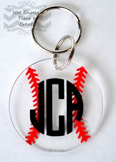 Acrylic Monogram Keychains by Not EnoughTime to Create - Find us on FB, Etsy and Storenvy.