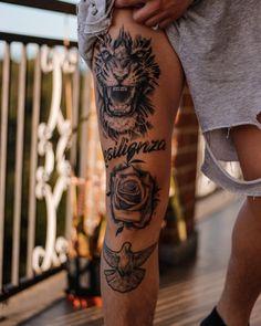 Leg Tattoos For Men, Thigh Tattoo Men, Best Leg Tattoos, Cool Shoulder Tattoos, Knee Tattoo, Cool Chest Tattoos, Cool Forearm Tattoos, Body Art Tattoos, Hand Tattoos