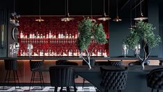 Rosso bar on Behance Adobe Photoshop, Container Bar, Color Schemes Design, Autodesk 3ds Max, Bar Counter, Interiores Design, Restaurant, Table Decorations, Architecture