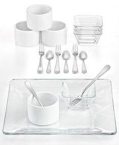 Perfect for entertaining The Cellar Serveware, Tempo 18 Piece Mini Tasting Set - Serveware - Dining & Entertaining - Macys #macysdreamfund