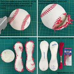 step 1 how to make a baseball softball keychain