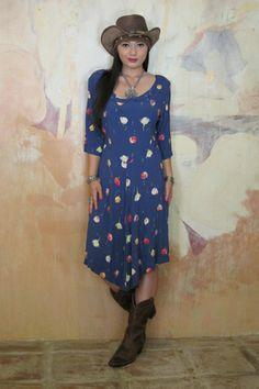 Marrika Nakk blue vintage inspired dress