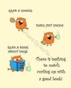 A cat a book a cookie and hot cocoa by martinjovev