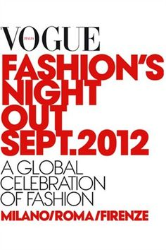 Tutti pronti per la Vogue Fashion's Night Out di Milano? :D