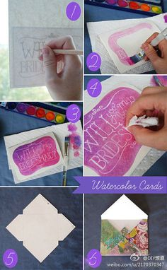 Fun way to make any hand made greeting card!