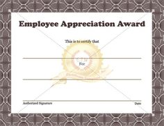 Free Formal Certificate Template  Make An Employee Of The Month