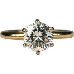 Superior Solitaire Diamond Ring Engagement 14k Gold 1.05ctw