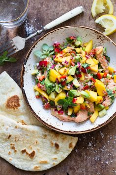 Idas fristelser Mango Avocado Salsa, Laksa, Cooking Recipes, Healthy Recipes, Ceviche, Snacks, Main Meals, Healthy Life, Clean Eating