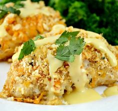 CRISPY OVEN BAKED RITZ CHEESY CHICKEN Crispy Oven Baked Ritz Cheesy Chicken. This is Everyone's Favorite Chicken! Crunchy Buttery Cheesy Coating With An Easy Yummy Gravy! Oh An…