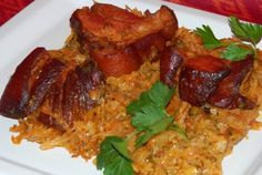 Ez nekem is tutira a kedvenceim közé kerülne! My Favorite Food, Favorite Recipes, Hungarian Recipes, Tandoori Chicken, Meat Recipes, Foodies, Food And Drink, Rice, Yummy Food