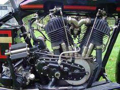ref Antique Motorcycles, Motorcycle Engine, Scrambler, Bobber, Chopper, Graham, Harley Davidson, Twin, Engineering
