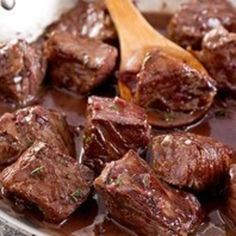 Beef Tips In Red Wine Sauce, I would add pearl onions because my family doesn't like mushrooms