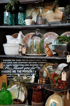 sweet salvage display inspiration and a give away at cote de texas. French Country Style, French Country Decorating, French Decor, Patina Style, Antique Interior, Rose Tea, Antique Shops, Taking Pictures, French Vintage