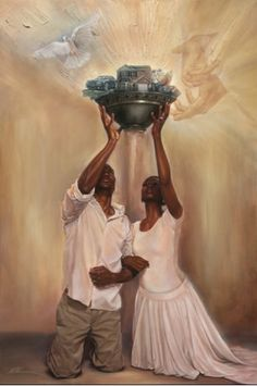 "Beautiful painting by WAK, ""Give it all to God."""