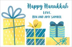 Personalized Hanukkah Presents Gift Stickers