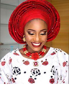 #asoebi #asoebispecial #speciallovers #wedding  Asooke @deroyalfabrics  Beads @tavinbeads Makeup by @ennieyapha