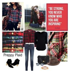 """""""Fall Trend - Preppy Plaid"""" by wantering ❤ liked on Polyvore featuring Alyx, Kenzo, Frame Denim, Burberry, Marc by Marc Jacobs, Jeepers Peepers, REINHARD PLANK and Alexander McQueen"""