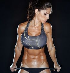 Michelle Lewin won my respect. Lady bodybuilders aren't appealing to me, but that's admirable to be that cut.