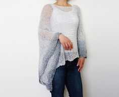 Knitting Pattern Stowe Asymmetrical Sweater Ombres Loose