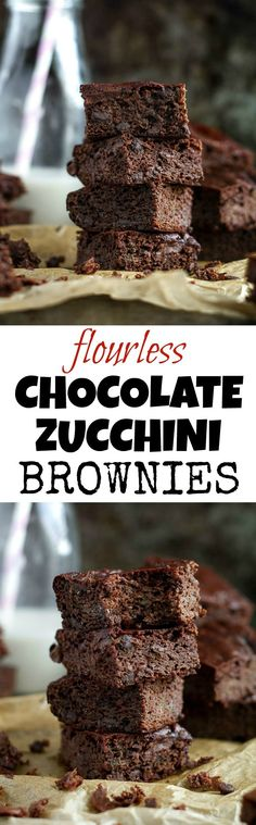 These flourless double chocolate zucchini brownies are gluten-free, grain-free…