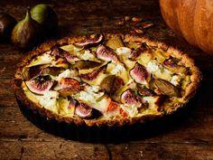 Kurpitsa-viikunapiiras Hawaiian Pizza, Margarita, Vegetable Pizza, Vegetables, Food, Mascarpone, Meal, Essen, Margaritas