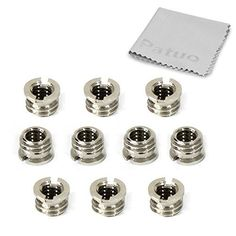 Patuo 14 to 38 Female to Male Reducer Bushing Convert Screw Adapter Tripod Screw Connecter Camera Rig Accessories 10 Pack >>> To view further for this item, visit the image link.