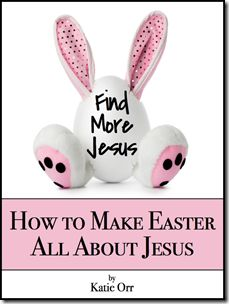 help your kids remember that Easter is about Jesus. Sorry, no Easter Bunny or Santa in my house--I want to celebrate Truth, Love, not magical creatures who reward behaviors.