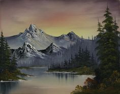 Just remember kids, you can always make everything into a mountain, this has been painting with     -Bob Ross