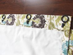 Our Nesting Ground: Lined Curtain Panels And Tie Back Tutorial.like The  Hidden Rings