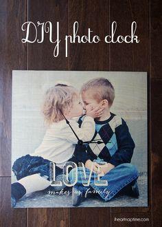 DIY photo clock #shutterflydecor