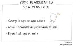 cómo blanquear la copa menstrual de manera ecológica