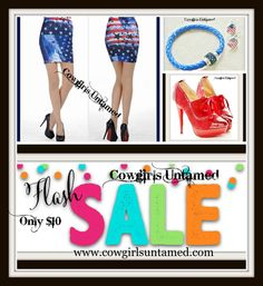 5/4 to 5/8 $10 Fash Sale in our BIG RED BARN SALE section! www.cowgirlsuntamed.com #sale #jewelry #bohojewelry #cowgirljewelry #westernjewelry #gypsy jewelry #cowgirl #boho #gypsy #horse #shoes #skirt #USA #American flag #flag