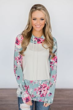 One Sweet Day Floral Cowl Neck Top ~ Ivory – The Pulse Boutique