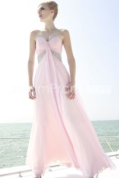 US $164.79 Free Shipping Pretty A-Line Sweetheart Ankle-Length Beadings Prom Dresses