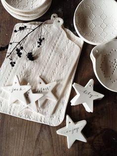 Personalized Ceramic Calligraphy Stars by Marley & Lockyer http://www.marleyandlockyer.com