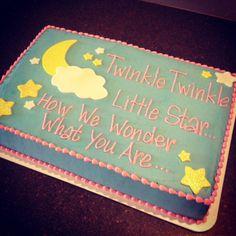 Twinkle Twinkle gender reveal cake   Cami's Cake Co. in Eudora, Kansas www.facebook.com/camiscakeco